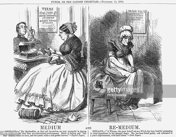 'Medium and ReMedium' 1864 Here Punch has a topical dig at the spiritual industry and the 'idiots of fashion' for providing such a fine harvest for...