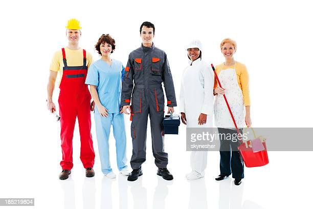 Medium Group of diversity occupations people.