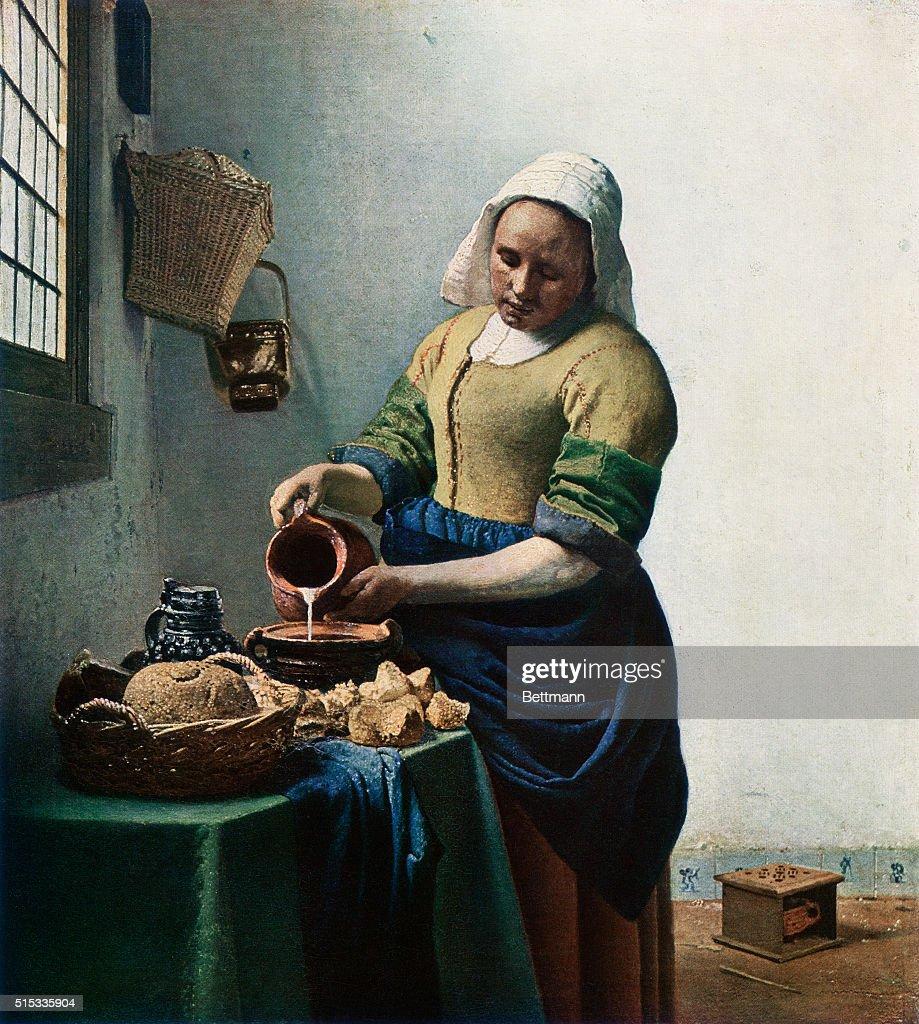 The Milkmaid by Jan Vermeer : News Photo