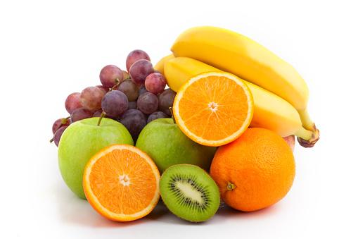 Medium pile of assorted fresh and bright fruit 182825717