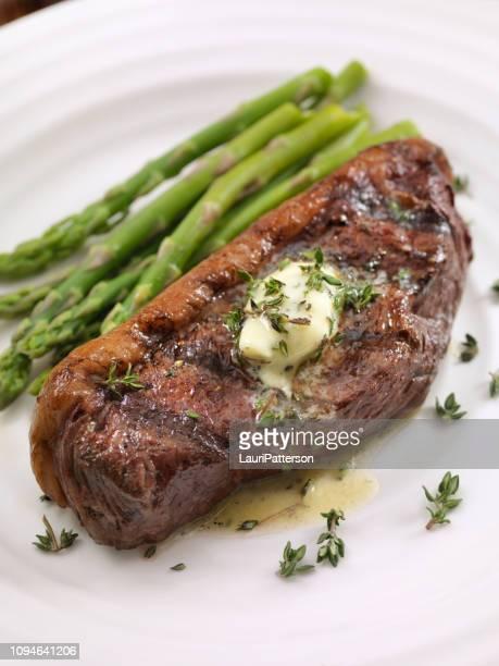Medium Rare Top Sirloin Steak with Herb Garlic Butter