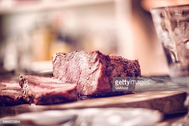 Medium roasted Roast Beef cut into Slices
