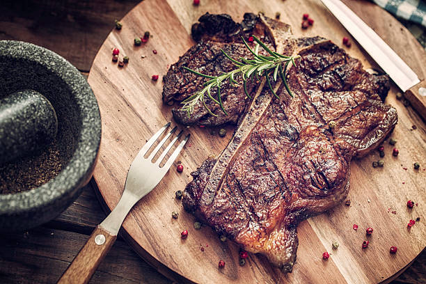Medium Roasted T-Bone Steak Wall Art