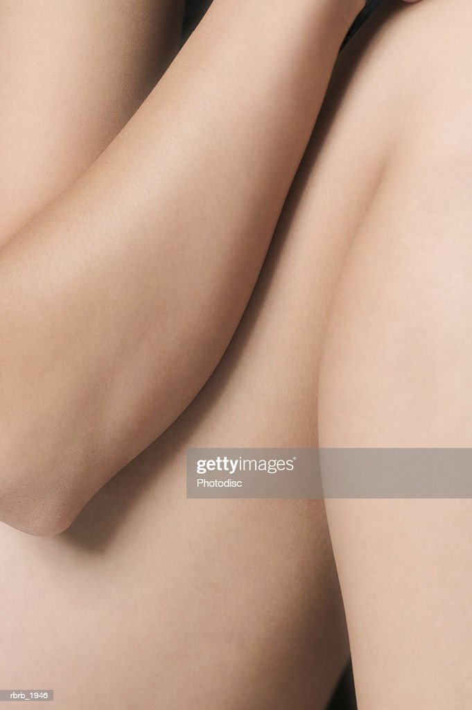 medium shot of the leg and arm of a young woman : Stockfoto