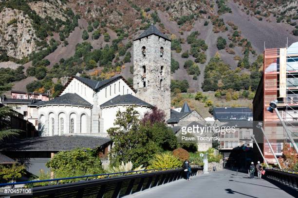 medival church of sant esteve d'andorra la vella, andorra - andorra la vella stock pictures, royalty-free photos & images