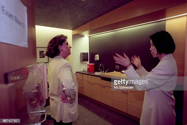 MEDoctor11001ISDr Helena Chang right who is taking over as director of the Revlon/UCLA Breast Center gets a tour of the new facility from...