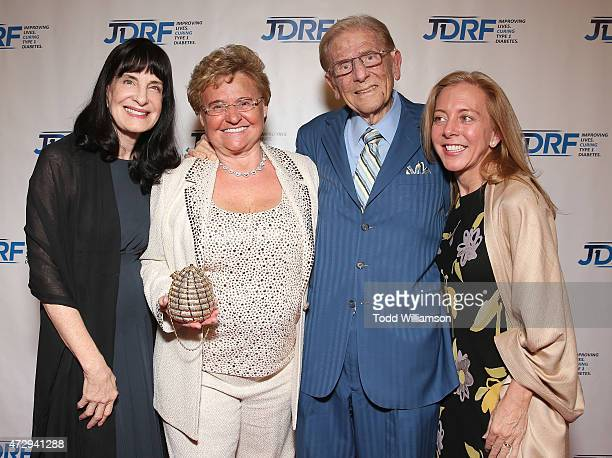 Medtronic's Chief Medical Officer Dr Fran Kauffman Claude Mann JDRF LA Lifetime Achievement Award recipient Alfred Mann and Medtronic's Kelly Joy...
