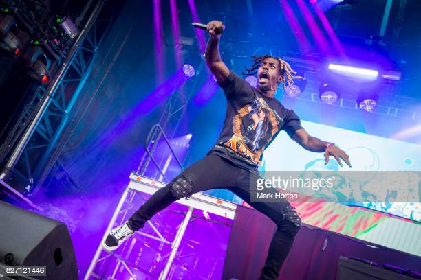 Meechy Darko of Flatbush ZOMBiES performs on Day 3 of the Osheaga Music and Art Festival at Parc JeanDrapeau on August 6 2017 in Montreal Canada