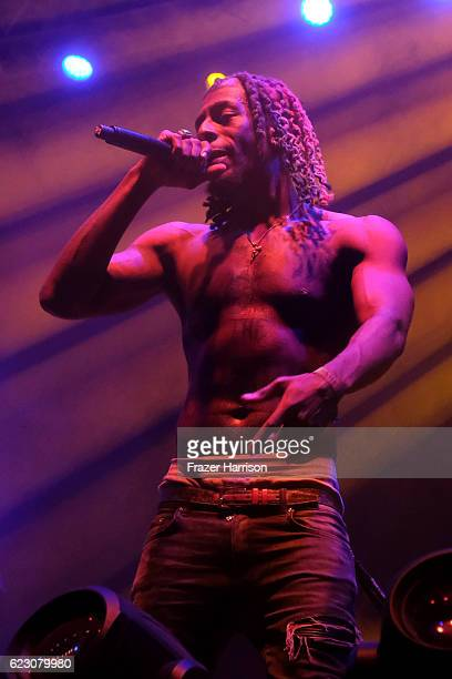 Meechy Darko of Flatbush Zombies performs on Flog Stage during day two of Tyler the Creator's 5th Annual Camp Flog Gnaw Carnival at Exposition Park...