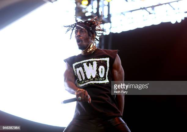 Meechy Darko of Flatbush Zombies performs onstage during 2018 Coachella Valley Music And Arts Festival Weekend 1 at the Empire Polo Field on April 14...