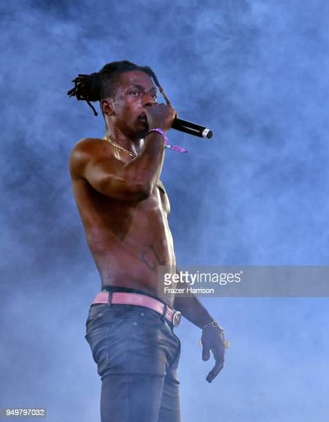 Meechy Darko of Flatbush Zombies performs onstage during the 2018 Coachella Valley Music And Arts Festival at the Empire Polo Field on April 21 2018...