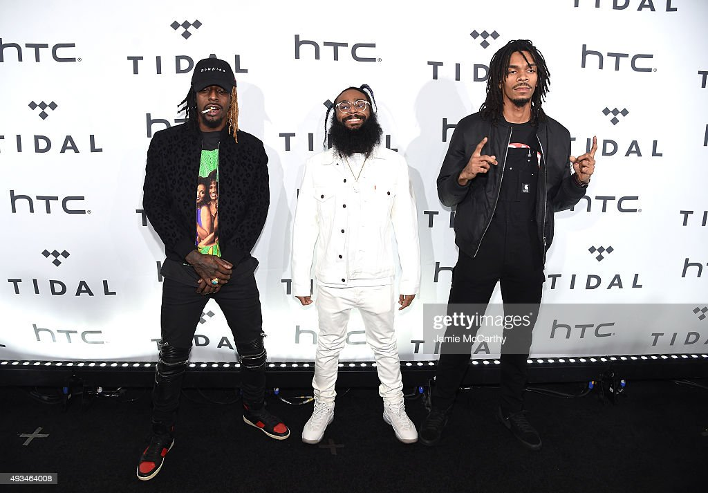 Meechy Darko, Zombie Juice and Erick Arc Elliott of Flatbush Zombies attend