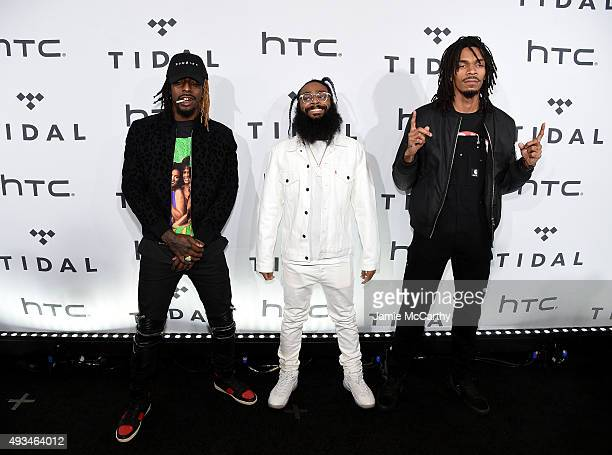Meechy Darko Zombie Juice and Erick Arc Elliott of Flatbush Zombies attend TIDAL X 1020 Amplified by HTC at Barclays Center of Brooklyn on October 20...