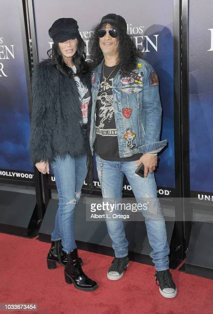 Meegan Hodges and Slash arrive for Universal Studios Hollywood's Opening Night Celebration Of Halloween Horror Nights held at Universal CityWalk...