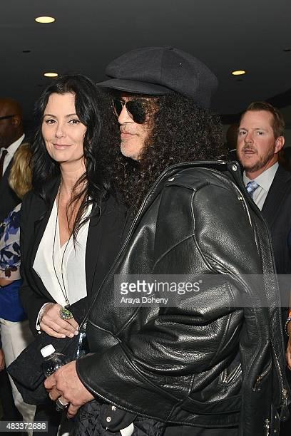Meegan Hodges and Slash attend the 15th annual Harold & Carole Pump Foundation gala at the Hyatt Regency Century Plaza on August 7, 2015 in Los...