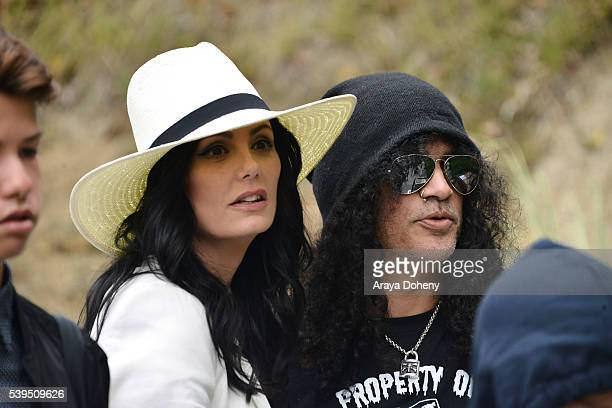 Meegan Hodges and Slash attend The Greater Los Angeles Zoo Association's 46th Annual Beastly Ball at Los Angeles Zoo on June 11 2016 in Los Angeles...