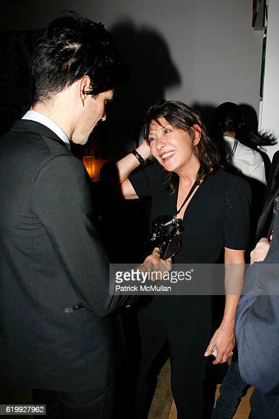 Meegan Singh and Barbara Bui attend CHARLOTTE SARKOZY hosts cocktails in honor of BARBARA BUI at Private Residence on October 30 2008 in New York City