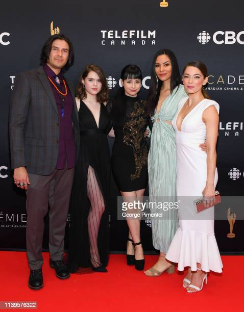 Meegwun Fairbrother Anwen O'Driscoll Star Slade Jessica Matten and Kristin Kreuk attend the 2019 Canadian Screen Awards Broadcast Gala at Sony Centre...