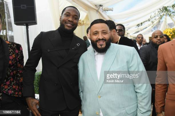Meek Mill and DJ Khaled attend 2019 Roc Nation THE BRUNCH on February 9 2019 in Los Angeles California