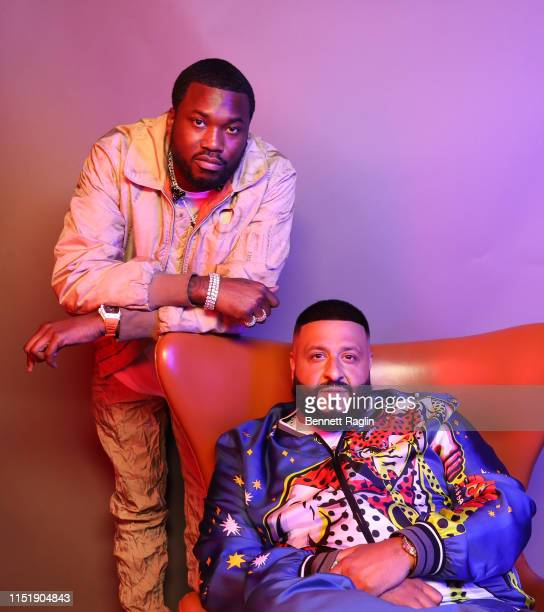 Meek Mill and DJ Khaled pose for a portrait during the BET Awards 2019 at Microsoft Theater on June 23, 2019 in Los Angeles, California.