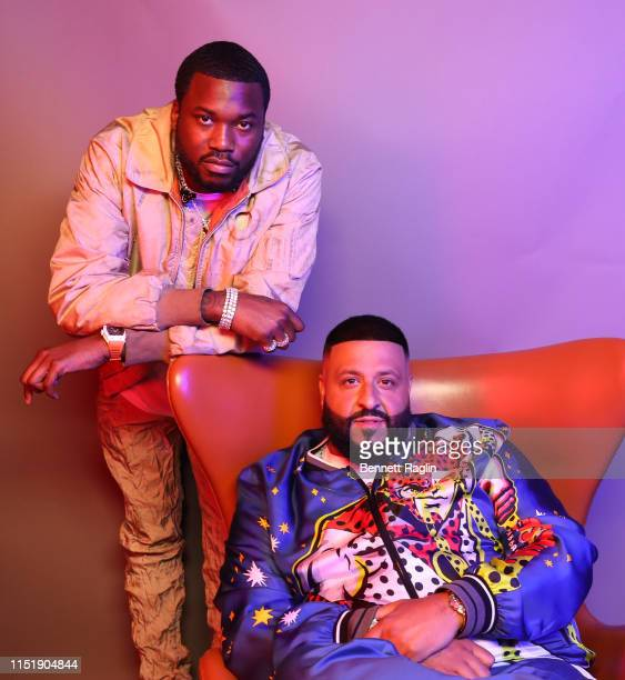 Meek Mill and DJ Khaled pose for a portrait during the BET Awards 2019 at Microsoft Theater on June 23 2019 in Los Angeles California