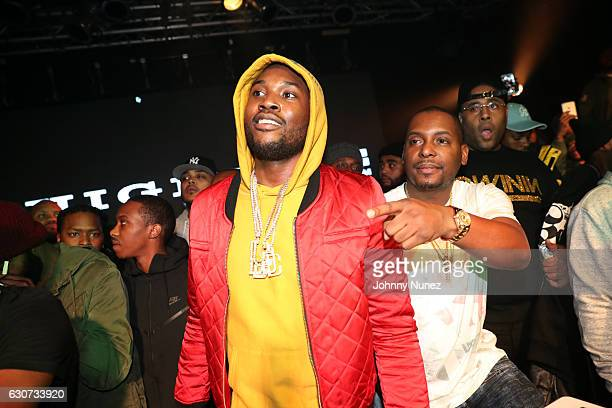 Meek Mill and DJ Self attend the New Year's Eve Preparty with Meek Mill on December 30 2016 in New York City