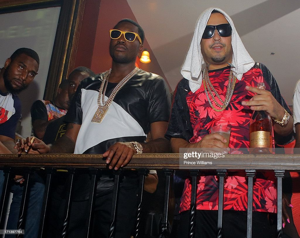 Meek Mill and French Montana attend the Birthday Bash Afterparty featuring Meek Mill, DJ Drama and French Montana at Mansion Elan on June 15, 2013 in Atlanta, Georgia.
