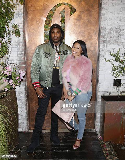 Meek Mill and Nicki Minaj attend DJ Khaled The Keys Book Launch Dinner Presented By Penguin Random House And CIROC on November 19 2016 in Los Angeles...