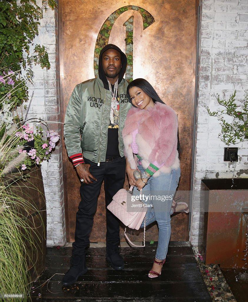 Meek Mill And Nicki Minaj Attend DJ Khaled U0027The Keysu0027 Book Launch Dinner  Presented