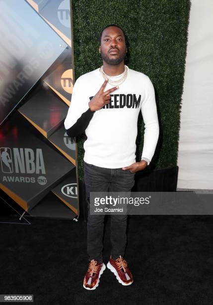 Meek Mill attends 2018 NBA Awards at Barkar Hangar on June 25 2018 in Santa Monica California