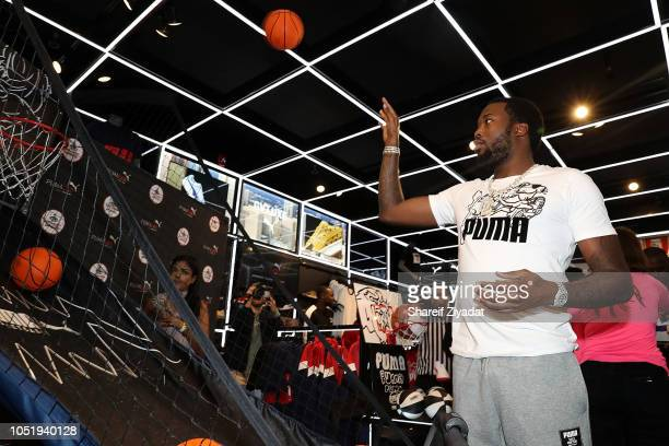 Meek Mill attends PUMA Hoops x Meek Mill Clyde Court Disrupt Launch at PUMALab at Foot Locker on October 11 2018 in Upper Darby Pennsylvania