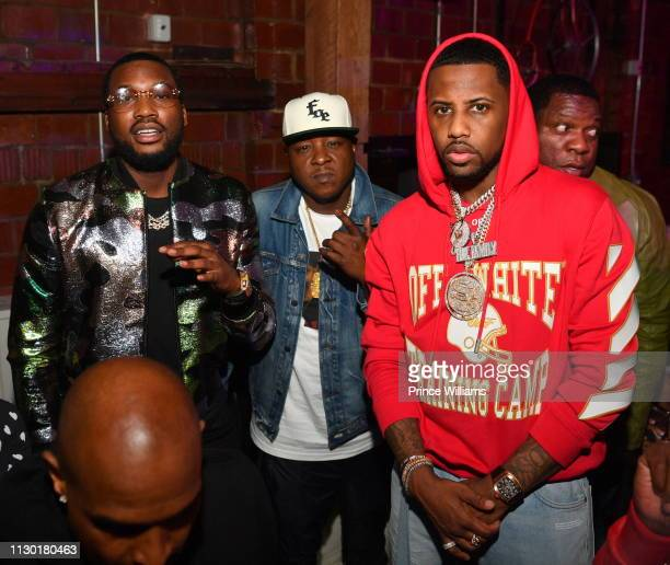 Meek Mill Jadakiss and Fabolous attend 2019 All Star Weekend Party hosted by Lil Baby Fabolous at Oak on February 16 2019 in Charlotte North Carolina