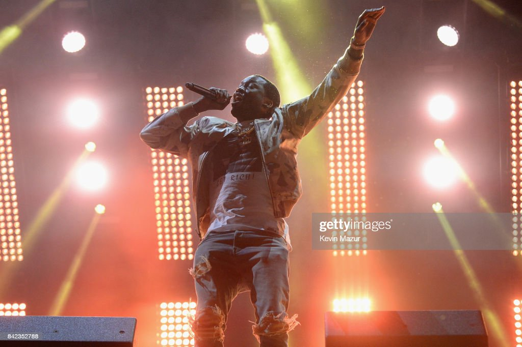 Meek Mill performs as a surprise guest during Jay Z's set during the 2017 Budweiser Made in America festival - Day 2 at Benjamin Franklin Parkway on September 3, 2017 in Philadelphia, Pennsylvania.