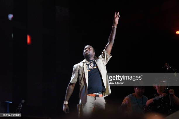 Meek Mill performs at Made in America Festival on September 1, 2018 in Philadelphia, Pennsylvania.