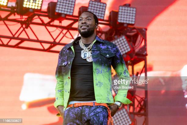 Meek Mill performs at the Lollapalooza Music Festival at Grant Park on August 04 2019 in Chicago Illinois