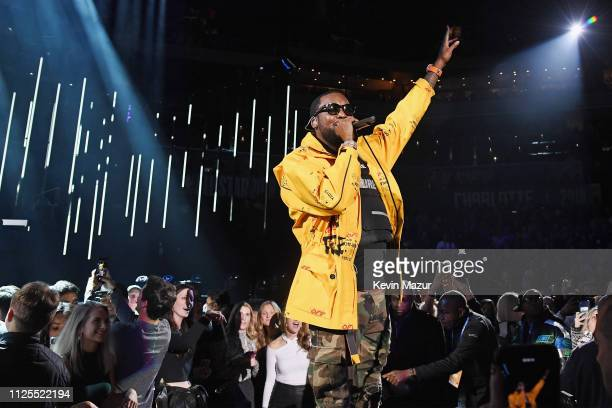 Meek Mill performs during the 68th NBA AllStar Game at Spectrum Center on February 17 2019 in Charlotte North Carolina