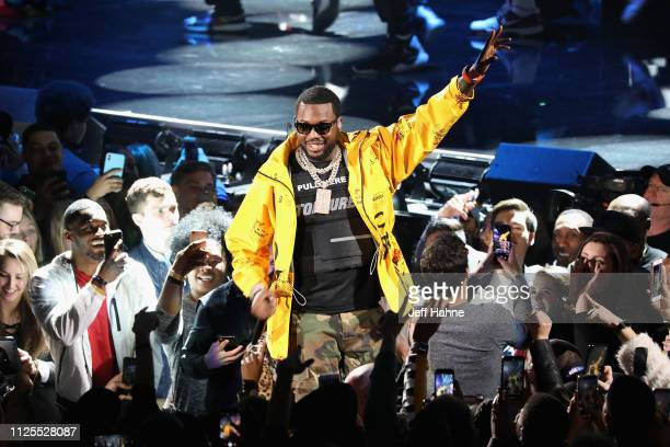 Meek Mill performs during the 68th NBA All-Star Game at Spectrum Center on February 17, 2019 in Charlotte, North Carolina.