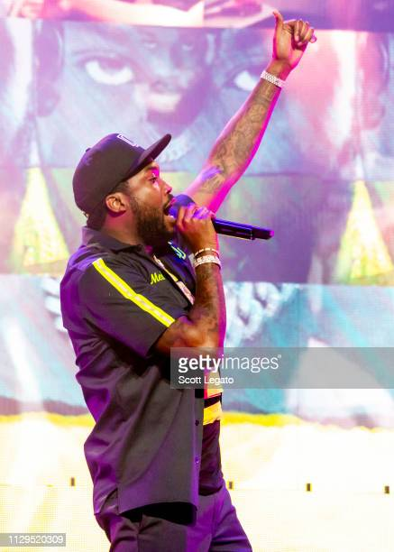 Meek Mill performs during The Motivation Tour at Fox Theatre on March 09 2019 in Detroit Michigan