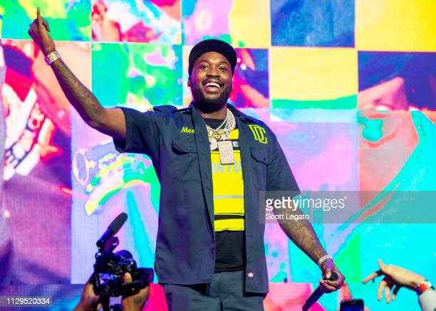 Meek Mill performs during The Motivation Tour at Fox Theatre on March 09, 2019 in Detroit, Michigan.