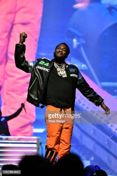Meek Mill performs onstage during the 4th Annual TIDAL X Brooklyn at Barclays Center of Brooklyn on October 23 2018 in New York City