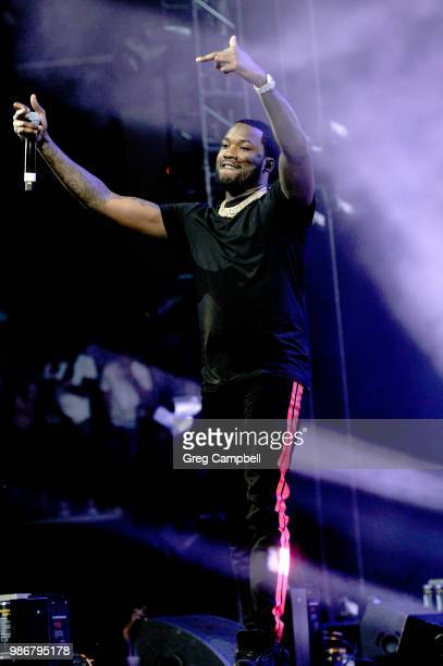 Meek Mill performs onstage during the 6th Yo Gotti Birthday Bash at FedExForum on June 28 2018 in Memphis Tennessee