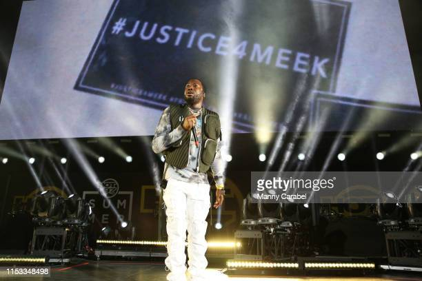 Meek Mill performs onstage during the Hot 97 Summer Jam 2019 at MetLife Stadium on June 2 2019 in East Rutherford New Jersey