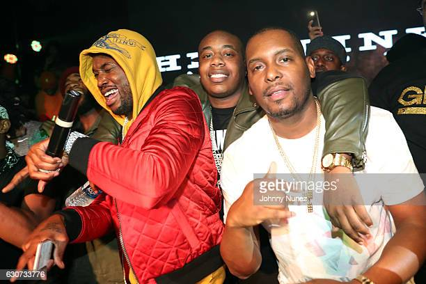 Meek Mill Trav and DJ Self attend the New Year's Eve Preparty With Meek Mill on December 30 2016 in New York City