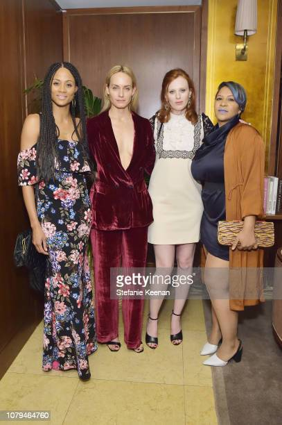 Meeka Kane Amber Valletta Karen Elson and February James attend Jo Malone London Celebrates Karen Elson's Birthstones by Duffy at Sunset Tower Hotel...