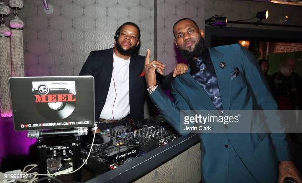 Meel and Lebron James attend the Klutch Sports Group More Than A Game Dinner Presented by Remy Martin at Beauty Essex on February 17 2018 in Los...