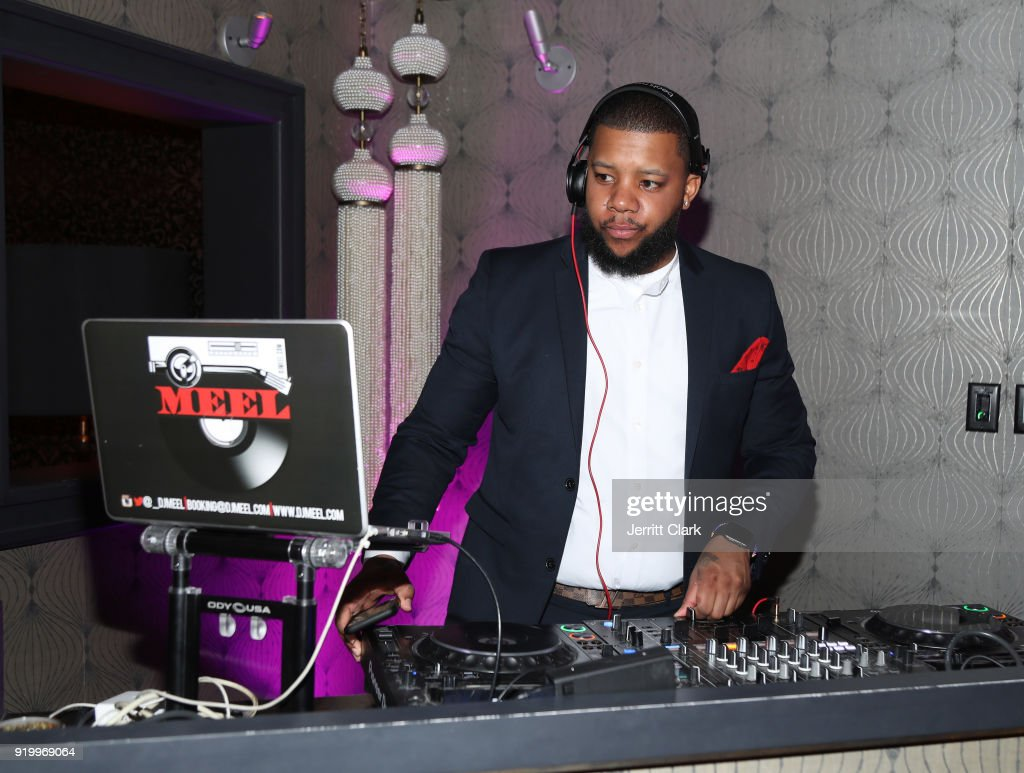 DJ Meel spins the Klutch Sports Group 'More Than A Game' Dinner Presented by Remy Martin at Beauty & Essex on February 17, 2018 in Los Angeles, California.