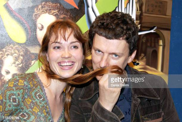 Meeli Salumae and Michel Gondry during Mark Kostabi on Location for Name That Painting at Kostabi World in SOHO May 26 2006 at Kostabi World in New...