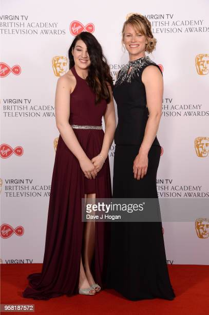 Meena Fitzpatrick and Jen Kehoe pose in the press room at the Virgin TV British Academy Television Awards at The Royal Festival Hall on May 13 2018...