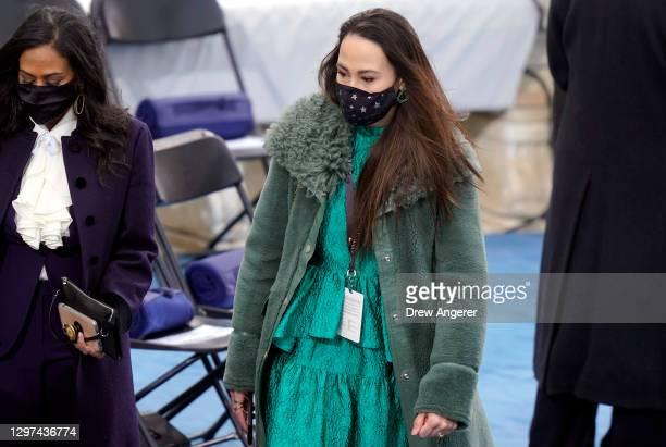 Meena Harris, niece of Vice President-elect Kamala Harris, arrives the inauguration of U.S. President-elect Joe Biden on the West Front of the U.S....