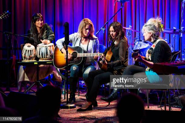 Meena Makhijani Vicki Peterson Susanna Hoffs and Annette Zalinskis of The Bangles perform during The Drop 3x4 at The GRAMMY Museum on May 06 2019 in...